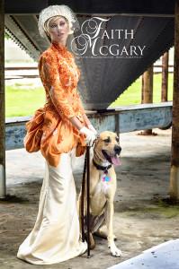 Model: Amber Wells, Photographer: DreamOrchid, Great Dane: Farrah