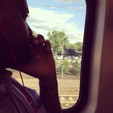 mensah on the train